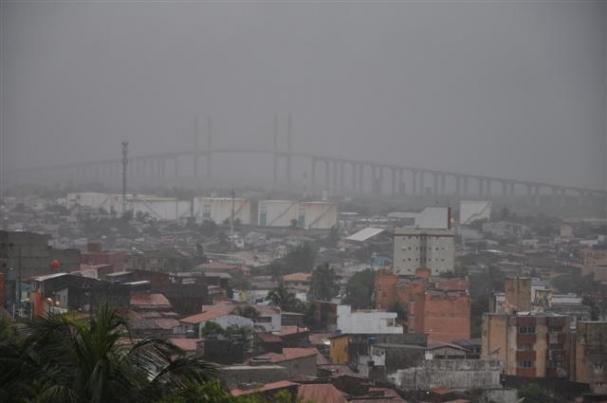 A região com maior volume de chuvas foi o bairro de Guarapes 9d99822126118