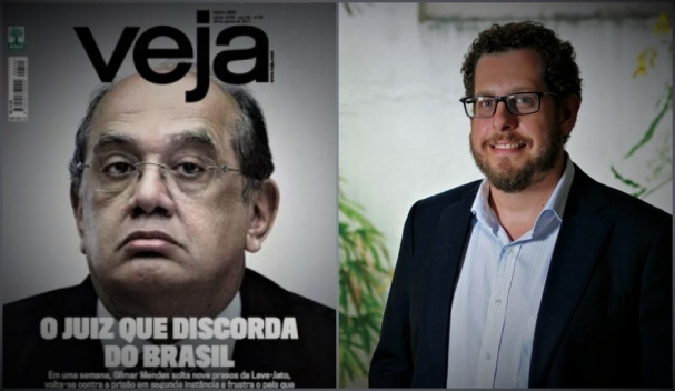 aba959e24e Capa de Veja com Gilmar Mendes e o novo dono Fábio Carvalho  desafio imenso