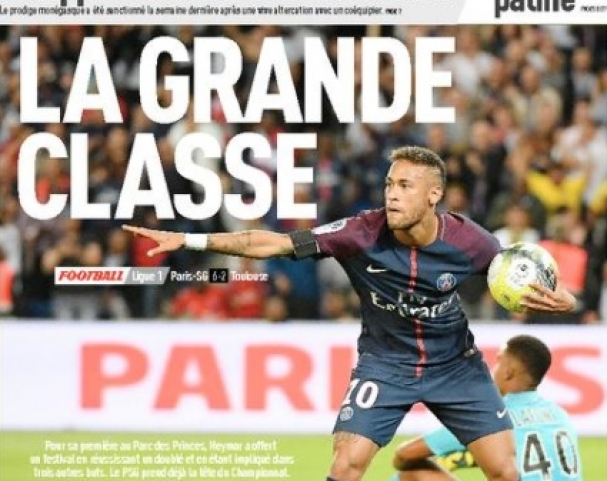 Manchete da capa do maior jornal de esportes da França e1a17bf99ffaa