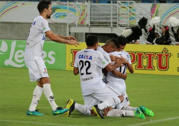 101dc03a3a Jogadores comemoram o gol da vitória (Foto  ABC Divulgação)